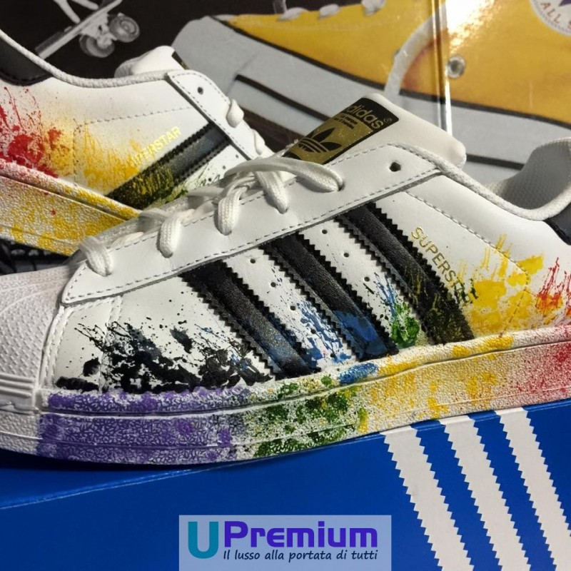 adidas superstar colorate arcobaleno
