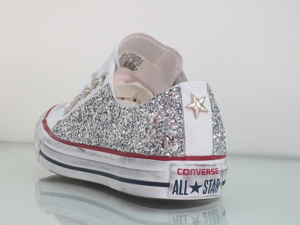 all star converse bambini bianche