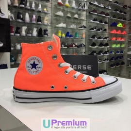 Converse All Star Hi Canvas Hyper Orange Arancioni 2017
