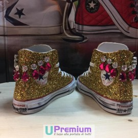 Converse All Star Jewel Glitter Gold Oro