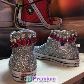 Converse All Star Jewel Glitter Argentate