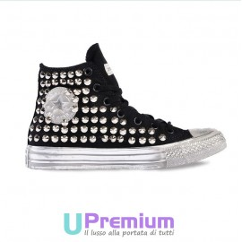Converse All Star Berlin Borchiate Nere Argento Vintage