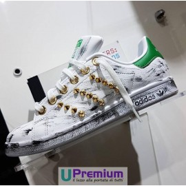 Adidas Stan Smith Verde Borchiate Oro Vintage