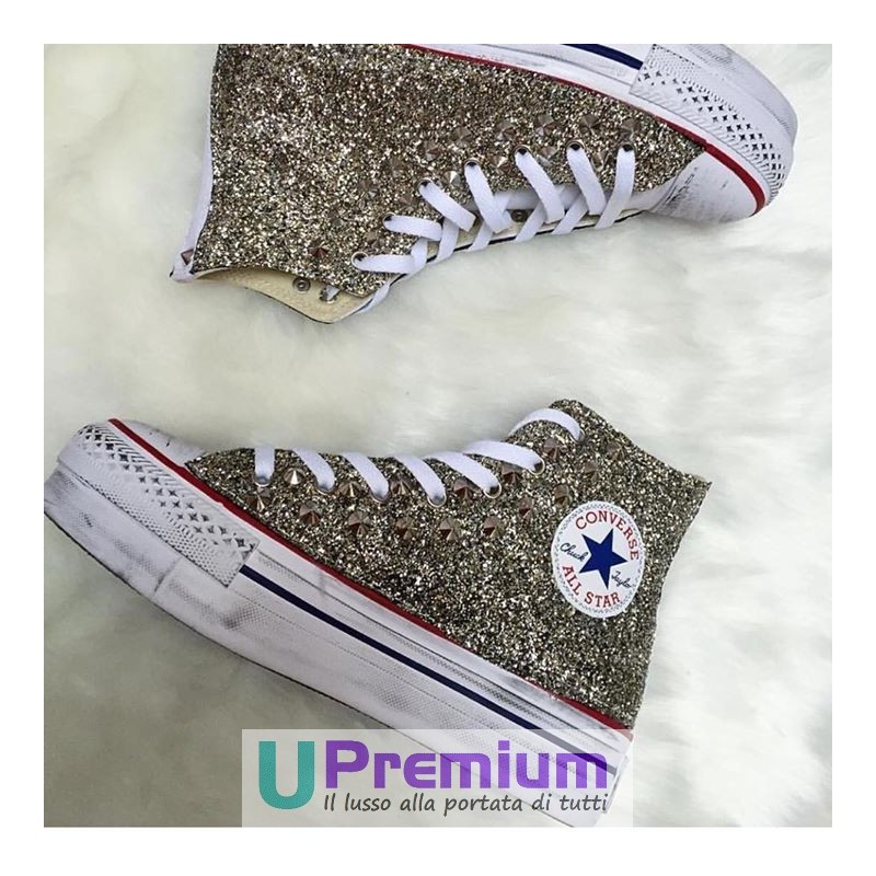 converse all star platform oro