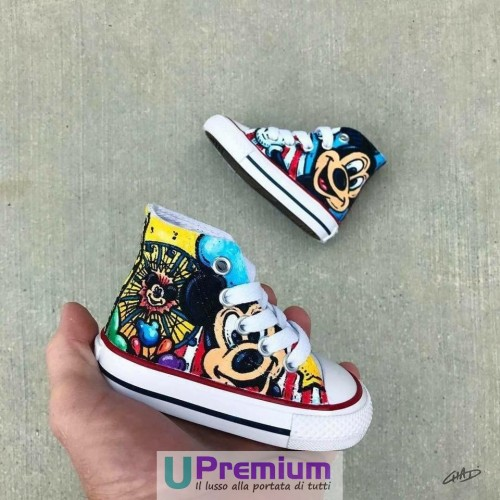 Converse All Star Mickey Mouse Topolino Disney [Prodotto Customizzato]
