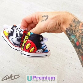 Converse All Star Mickey Mouse Topolino Disney 2 [Prodotto Customizzato]