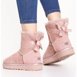 UGG Mini Bailey Bow II Metallic Fiocco Dusk Rosa 2018