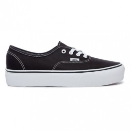 Vans Authentic Platform Donna Zeppa Nero Suola Bianca 2018