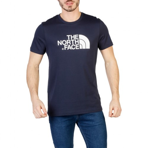 The North Face T Shirt Easy Tee Blu Scuro Logo Bianco 2018