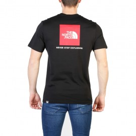 The North Face T Shirt Red Box Nero Logo Rosso 2018