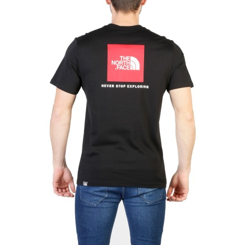 T Shirt The North Face Red Box Bianca Logo Rosso 2018
