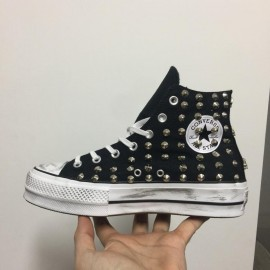 Converse All Star Platform Nere Borchiate