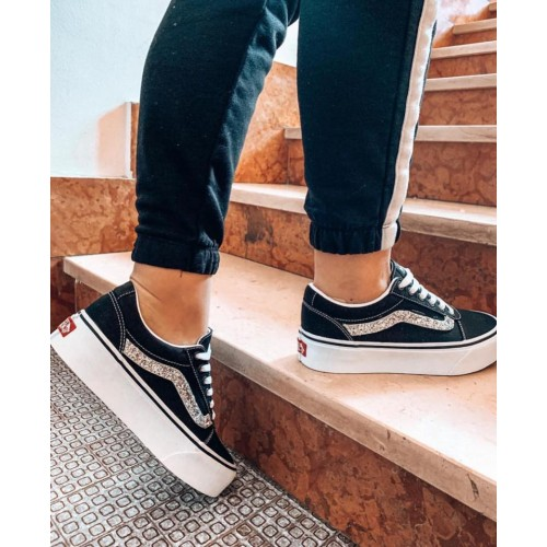vans old skool platform donna bordeaux