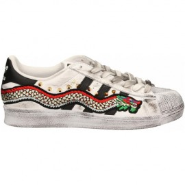 Adidas Superstar Snake Vintage Borchie [Prodotto Custom]