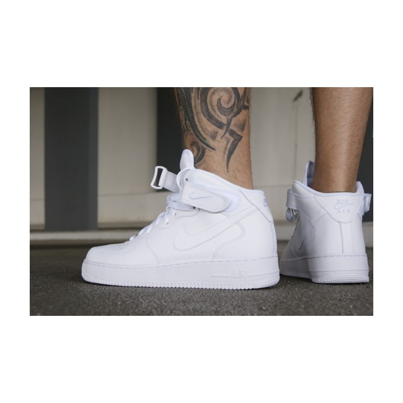 more photos 30e11 68fd6 ... Nike Air Force 1 Mid Bianche Alte White 315123 111 ...