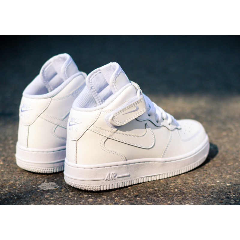 official photos e6162 1ad39 ... Nike Air Force 1 Junior Mid Bianche Alte White 314195 113
