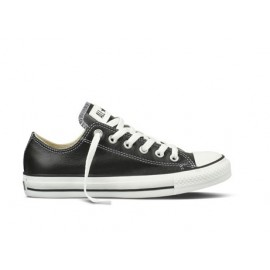 Converse Leather All Star Nere Pelle Basse 132174c
