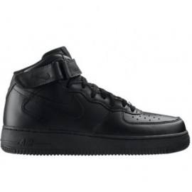 Nike Air Force 1 Nere Alte Stivaletto Pelle