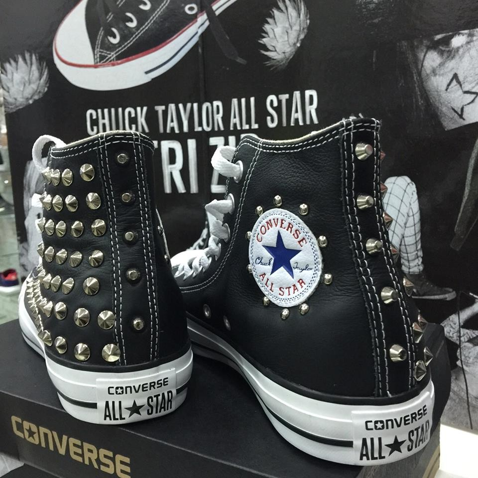 all star converse alte di pelle