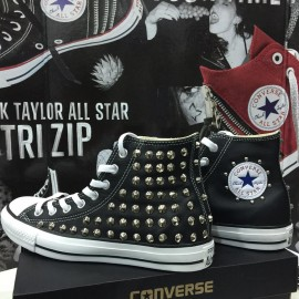 Converse All Star Pelle Black Steel