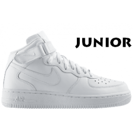 Nike Air Force 1 Junior Mid Bianche Alte White 314195 113
