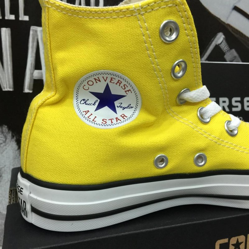 converse all star donna alte gialle