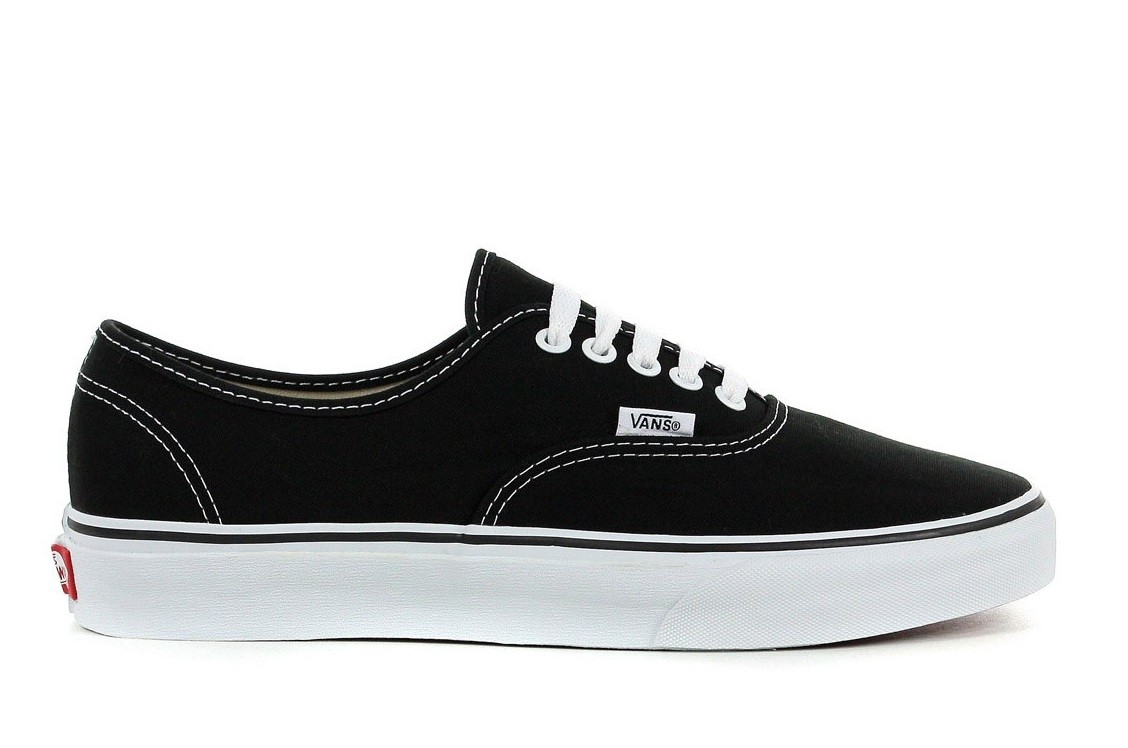 vans authentic nere gomma nera