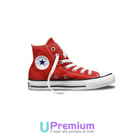Converse All Star Classiche Rosse Red Alte Hi M9621