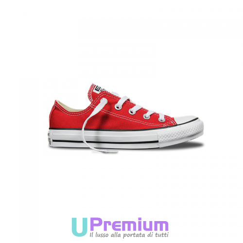 Converse All Star Classiche Rosse Red Basse M9696