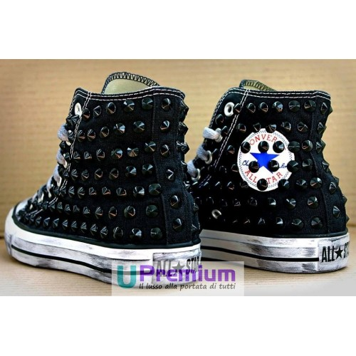 converse all star nera borchiata