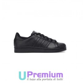 Adidas Superstar Foundation Classiche Tutte Nere Junior