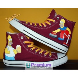 Converse All Star Bordeaux Homer Simpson