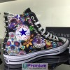 Converse All Star Teschio Messicano Tessuto Borchiate Nere