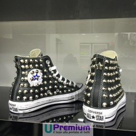 Converse All Star Pelle Steel Black Silver