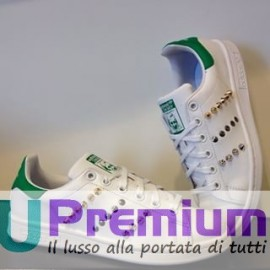 Adidas Stan Adidas Stan Smith Bianco Verde Borchiate