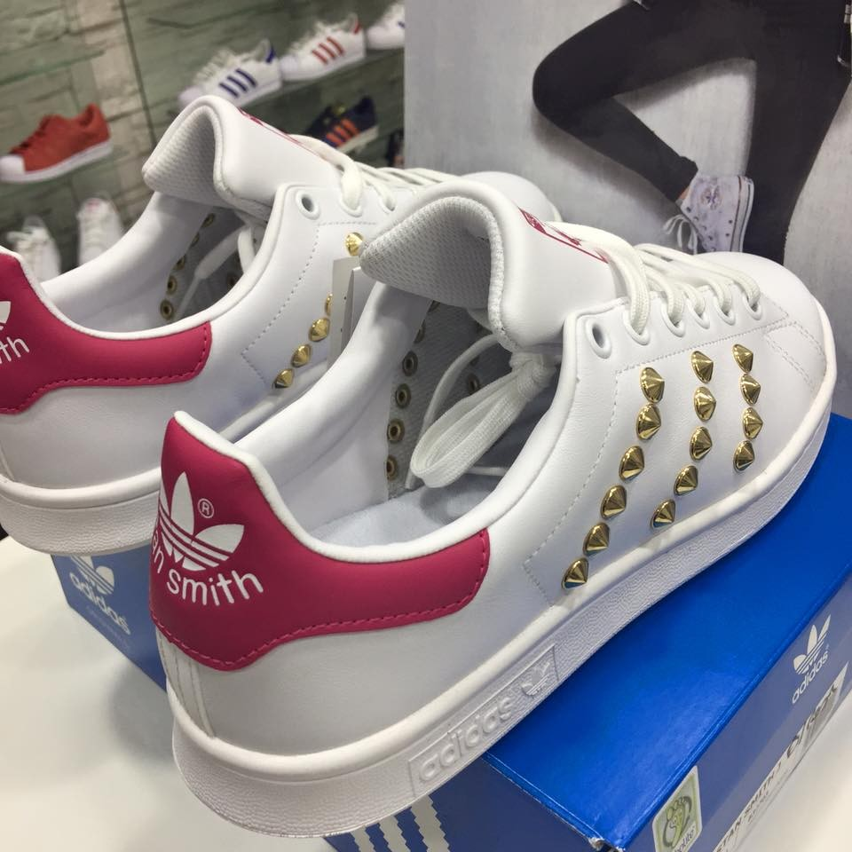 stan smith bianche strappi