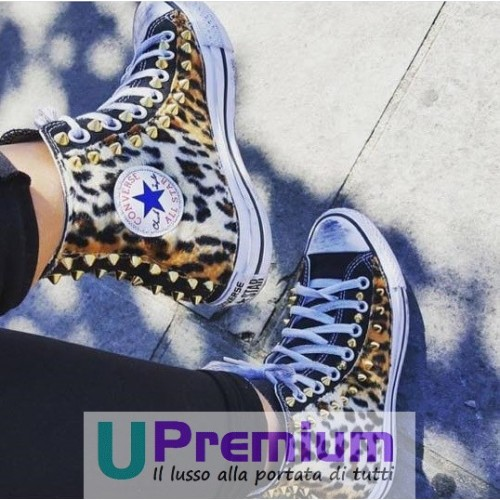 Converse All Star Black Nere Leopardate