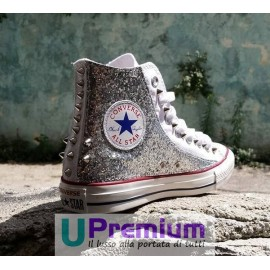 Converse All Star Borchie Glitter Argento