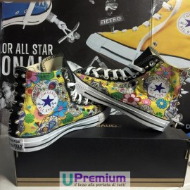 Converse All Star Teschio Messicano Gialle