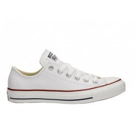 Converse Leather All Star Bianche White Basse 132173