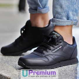 Reebok Classic Leather Nere Total Black 2016
