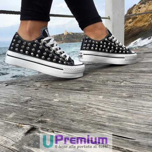 converse all star nere donna basse