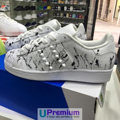 Adidas Superstar White & Black Verniciate 2016