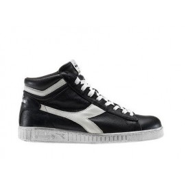 Diadora Game Waxed black White Stivaletto Effetto Dirty 159657