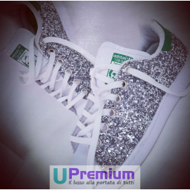 Adidas Stan Smith Silver Verde Brillantini