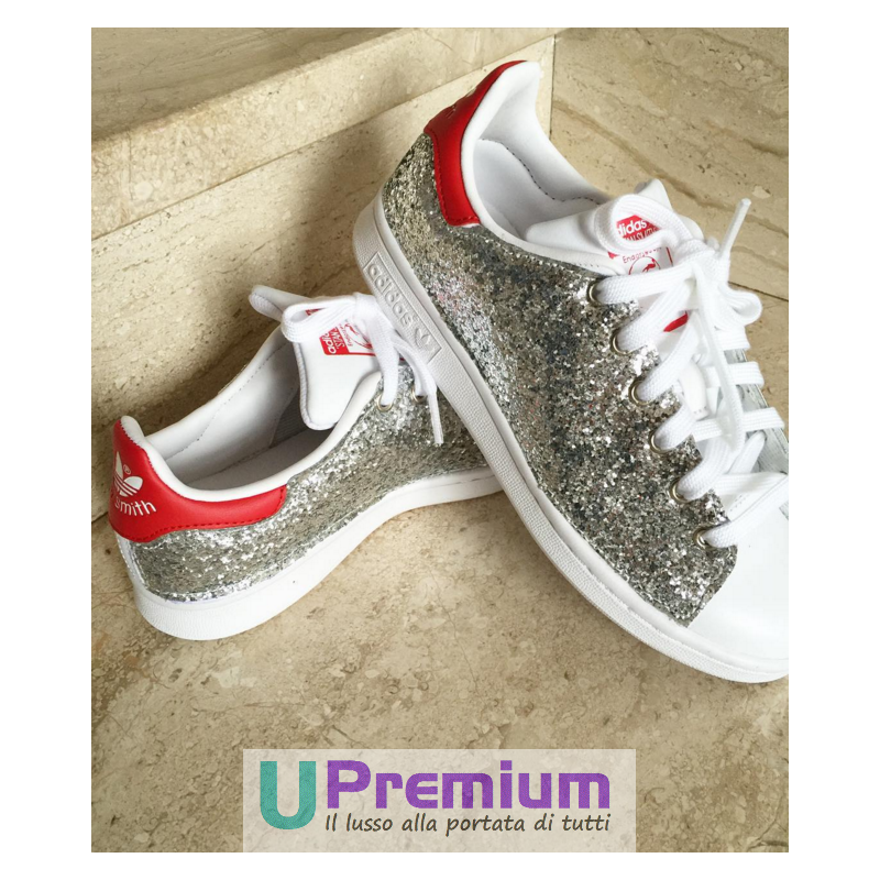 Brillantini U Smith Stan Navy Silver Premium Adidas zVqMpSU