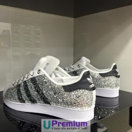 Adidas Superstar Silver Glitter Exclusive 2016 [Prodotto Customizzato]