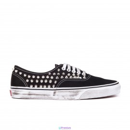 Vans Borchiate Authentic Black Classiche Borchie Argento