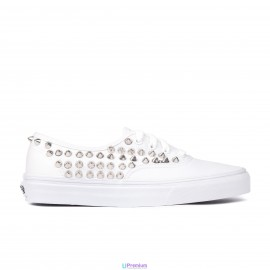 Vans Borchiate Authentic White Classiche Borchie Argento
