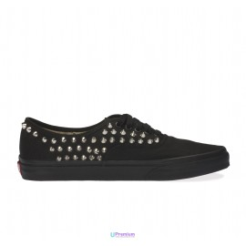 Vans Borchiate Authentic Total Black Classiche Borchie Argento